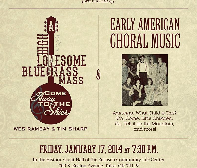 "TOC Chamber Choir to Present ""A High Lonesome Bluegrass Mass"""