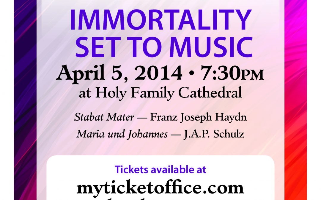 """Immortality Set to Music"" Featuring Austrian and German Composers 