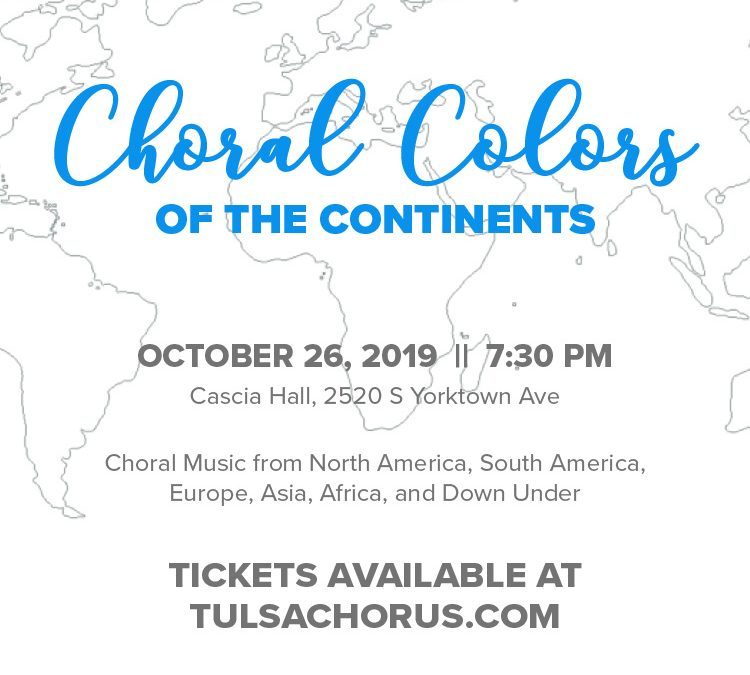 Celebrate musical storytelling from around the world at Saturday's Choral Colors of the Continents performance