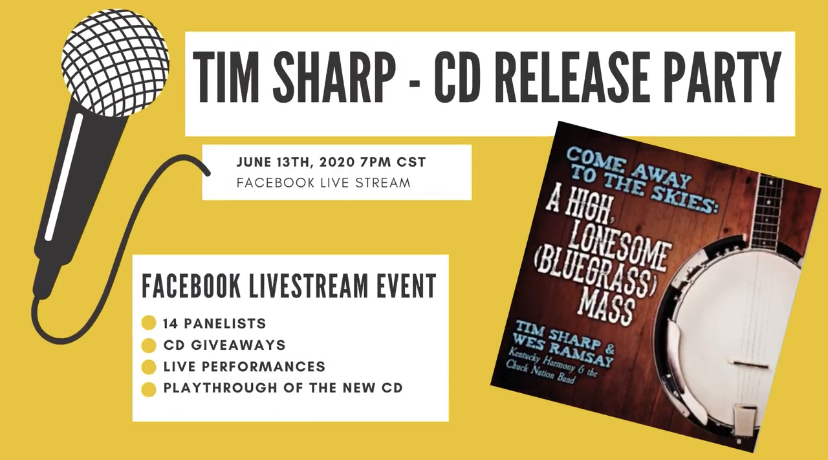 "Facebook LIVE CD Release Party: ""Come Away to the Skies: A High, Lonesome (Bluegrass) Mass."""