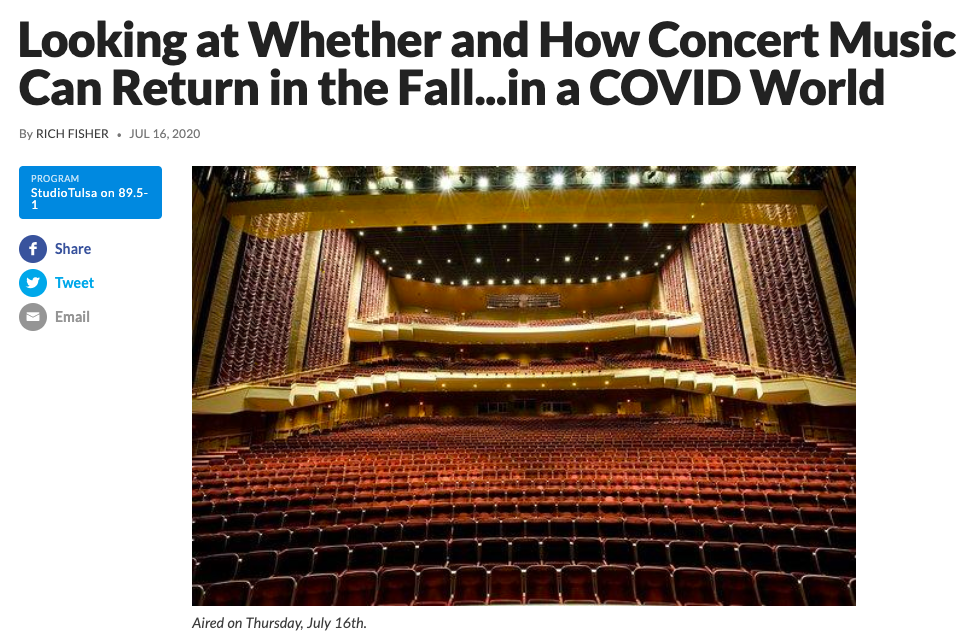Looking at Whether and How Concert Music Can Return in the Fall…in a COVID World